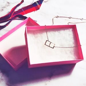 """Gold Small Letter """"B"""" Necklace. Alphabet Necklace"""